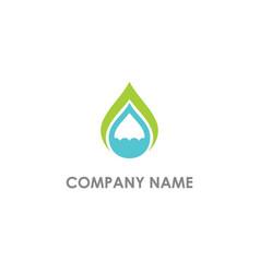 droplet eco water bio logo vector image