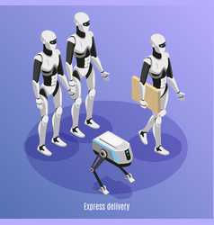 Express delivery isometric background vector