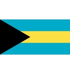 Flag of Bahamas in correct proportions and colors vector