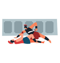 gladiators or spartan warriors fight on scene vector image