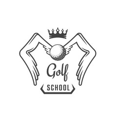 golf school logotype vector image