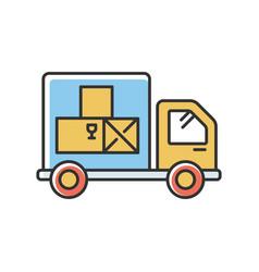 Goods receipt rgb color icon logistics vector