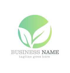 Green leaf seed business logo vector