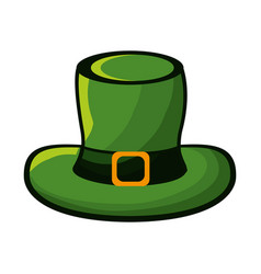 hat accessory st patrick vector image