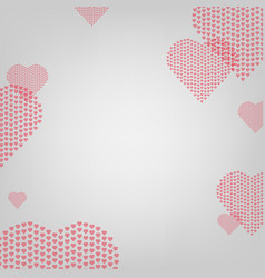 heart with grey background vector image