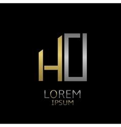 HO letters logo vector image