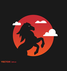 horse shadow on sun vector image