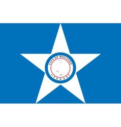 Houston city flag vector
