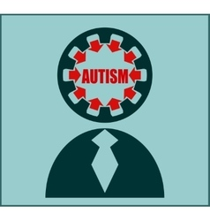 Icon flat design Autism disorder vector