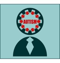 Icon flat design autism disorder vector