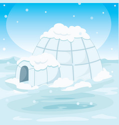 igloo house vector image
