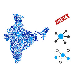 India map links composition vector