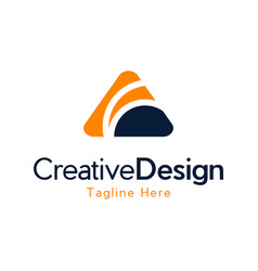 letter a agency creative business modern logo vector image