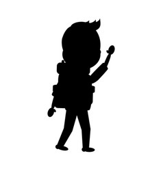 Man tourist with backpack vector