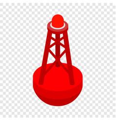 Marine buoy isometric icon vector