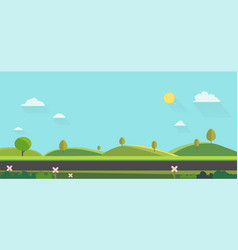 nature landscape background cute flat vector image