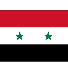 Official national flag of Syria vector