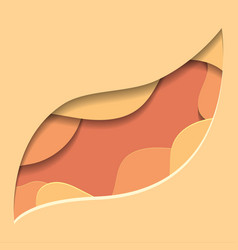 orange of 3d tree leaf cut out from vector image
