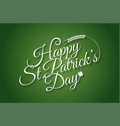 patrick day vintage lettering background vector image
