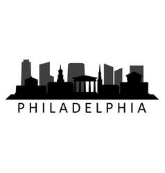 Philadelphia skyline vector