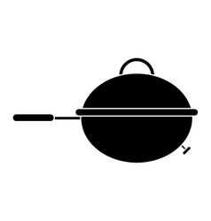 pictogram grill barbecue kettle food camping vector image