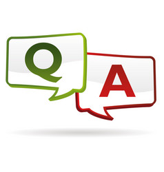 question answer vector image