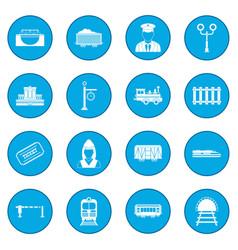 railroad icon blue vector image
