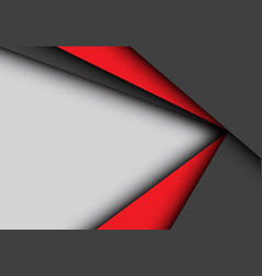 red black arrow overlap on gray blank space vector image