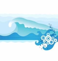 Sea waves vector
