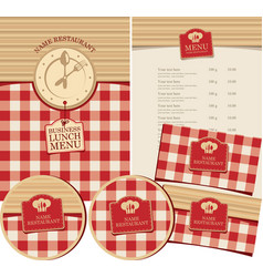 Set of design elements for a restaurant vector