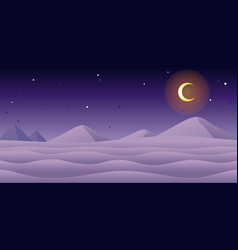 Snow night game background vector