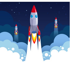 space exploration start-up business rocket vector image
