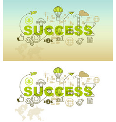 Success banner background design concept vector