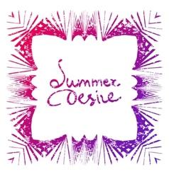 Summer desire vector