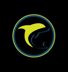 summer logo beach logo palm and wave icon design vector image