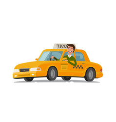 Taxi driver concept car transport vector