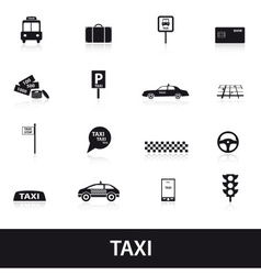taxi icons eps10 vector image