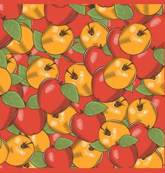Vintage apple seamless pattern vector