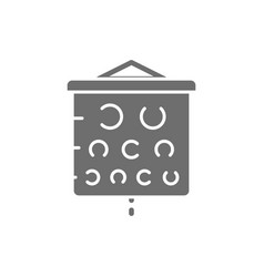 Vision test chart grey icon isolated on white vector