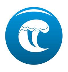 Wave water scene icon blue vector