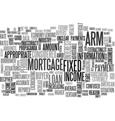 When is an adjustable rate mortgage a good idea vector