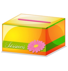 A colorful tissue box vector image vector image