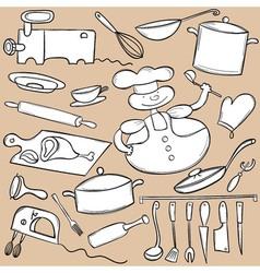 Cooking Doodle Set vector image