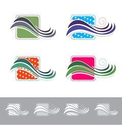 Fabric or textile logo vector