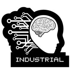 Industrial icon vector image vector image