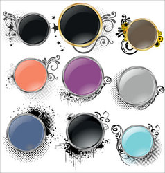 shiny grunge banners vector image