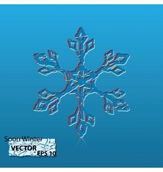 soon winter vector image