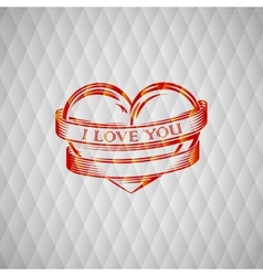 With engraving red heart vector