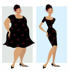 Before and after diet vector
