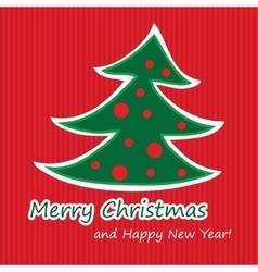 Merry Christmas postcard with fir vector image vector image
